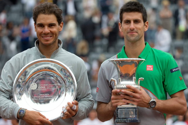 Rafael Nadal et Novak Djokovic... (Photo Andrew Medichini, archives AP)