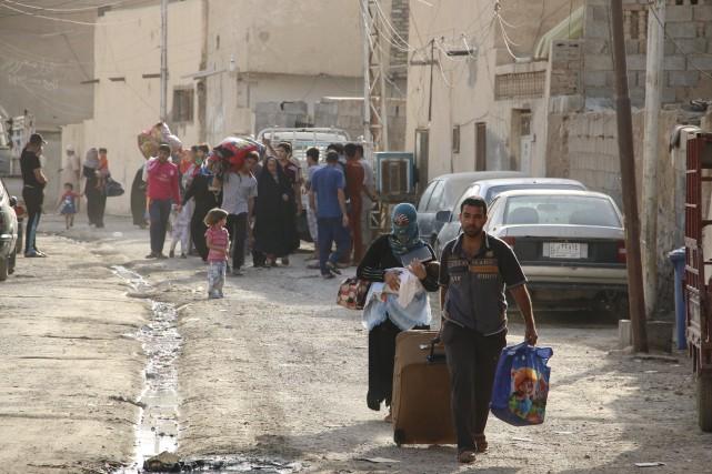 Le groupe État islamique contrôle depuis dimanche la... (PHOTO REUTERS)