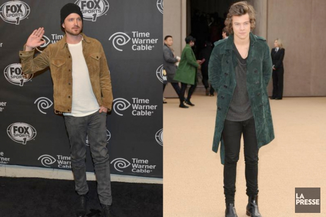 Aaron Paul et Harry Styles... (PHOTOMONTAGE LA PRESSE)