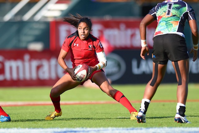 Magali Harvey... (Photo Ian Muir, fournie par Rugby Canada)