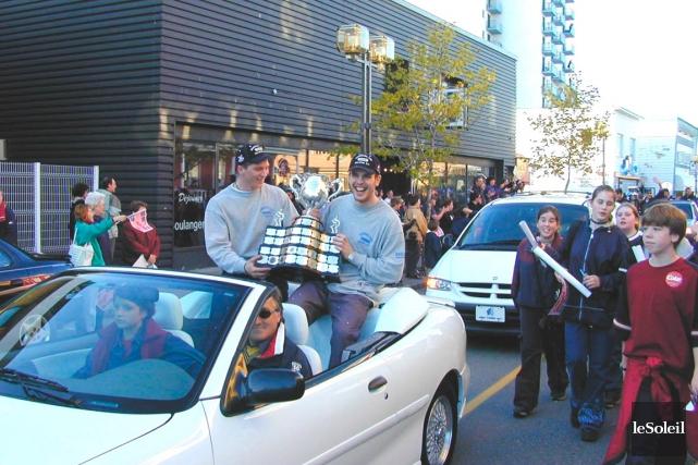 Jonathan Beaulieu (à gauche) et Brad Richards paradent... (Photothèque Le Soleil)