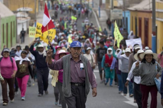 Les manifestations de vendredi ont également fait sept... (Photo Martin Mejia, archives AP)