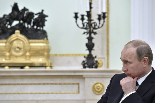 Vladimir Poutine... (Photo Kirill Kudryavtsev, Archives AP)