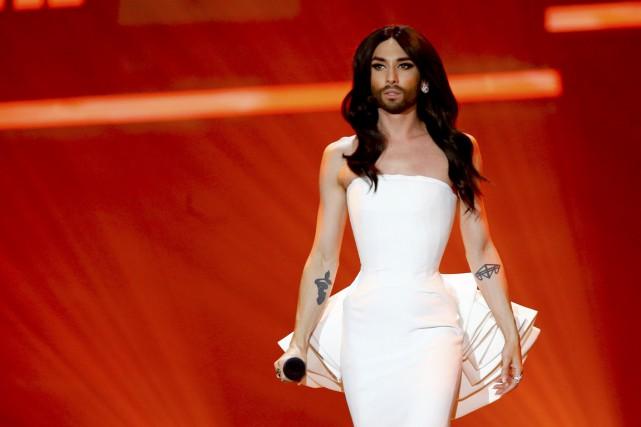 Couronnée l'année dernière, Conchita Wurst a chanté mardi... (Photo Leonhard Foeger, archives Reuters)