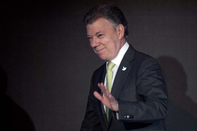 Le président colombien Juan Manuel Santos... (Photo Moises Castillo, AP)