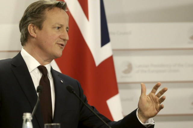 Le premier ministre David Cameron... (Photo INTS KALNINS, archives Reuters)