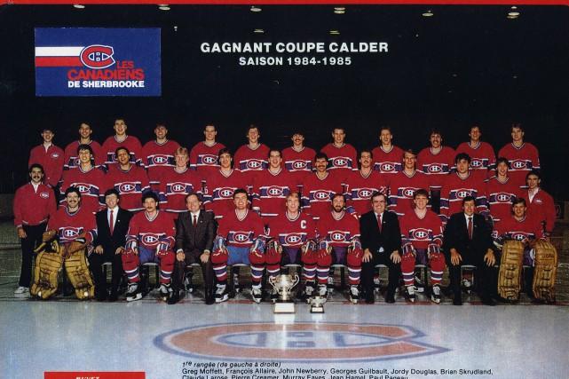 Les Canadiens de Sherbrooke, vainqueurs de la Coupe... (Fonds Frederick Zakaib, La société d'histoire de Sherbrooke)