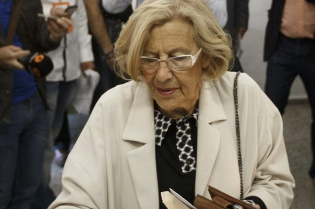 À Madrid, la liste «Ahora Madrid» de Manuela... (Photo Daniel Ochoa de Olza, AP)