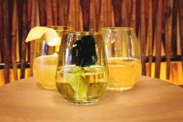 Les trois thés alcoolisés servis chauds du restaurant... (Photo fournie par le groupe Sésame)
