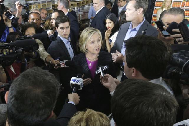 Vendredi, Hillary Clinton, candidate à l'investiture démocrate en... (Photo: Reuters)