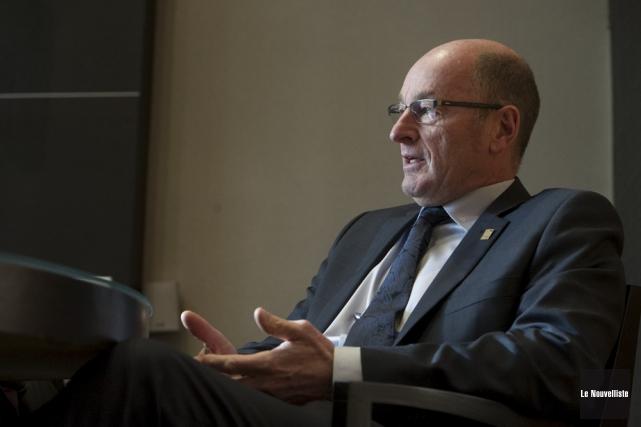 Le maire Yves Lévesque... (Stéphane Lessard, Le Nouvelliste)