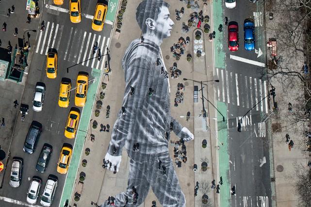 En perpétuelle évolution, New York renouvelle constamment son parc d'oeuvres... (PHOTO FOURNIE PAR L'ARTISTE FRANÇAIS JR)
