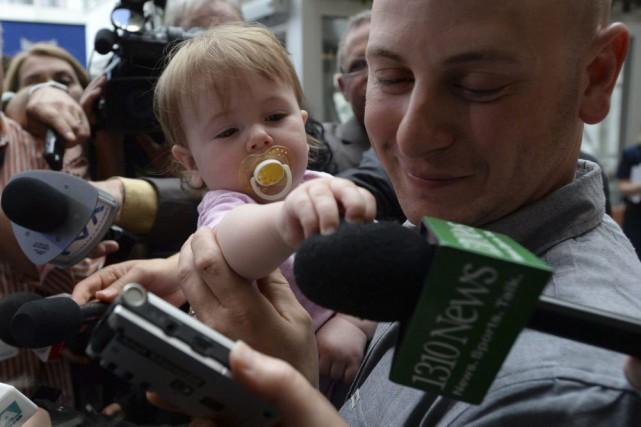 La petite Victoria avait été enlevée en 2014... (Sean Kilpatrick, La Presse Canadienne)