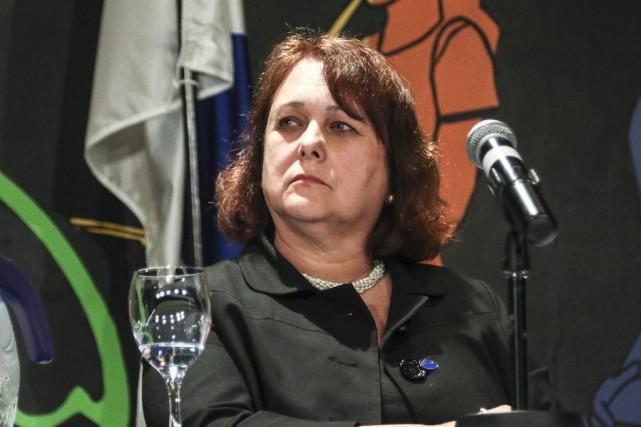 Johanne Légaré, présidente de la CSPO, affirme qu'elle... (Patrick Woodbury, Archives LeDroit)