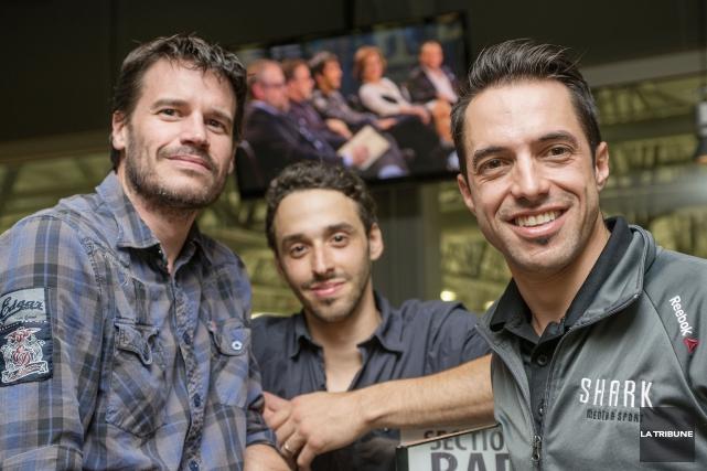 Stephan Doucet, Nolan Poulin et NykBeaulieude Shark Media... (Imacom, Frédéric Côté)