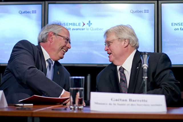 Le ministre de la Santé, Gaétan Barrette s'est... (Photo: La Presse Canadienne)