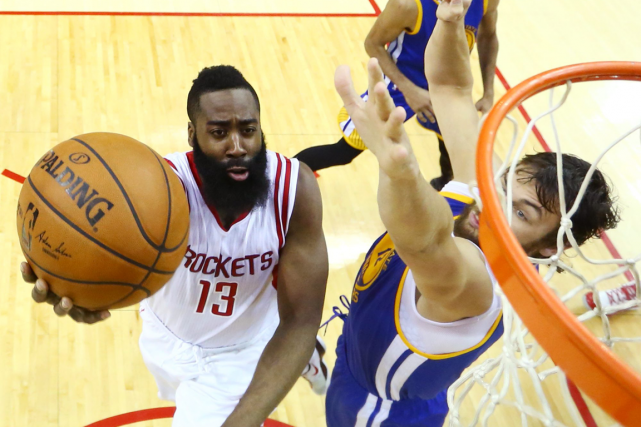 James Harden a inscrit 45 points dans la... (Photo Ronald Martinez, AP)