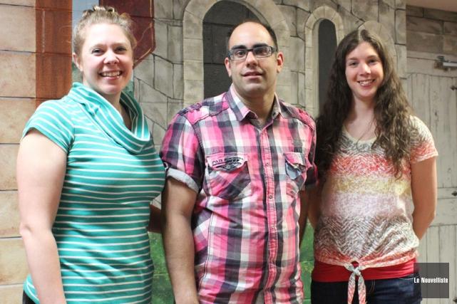 Les trois enseignants responsables du spectacle qui aura... (Photo: Audrey Tremblay, Le Nouvelliste)
