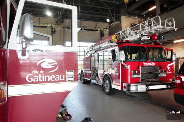Les pompiers de Gatineau ont sauvé la mise en combattant un incendie alors... (Archives, LeDroit)