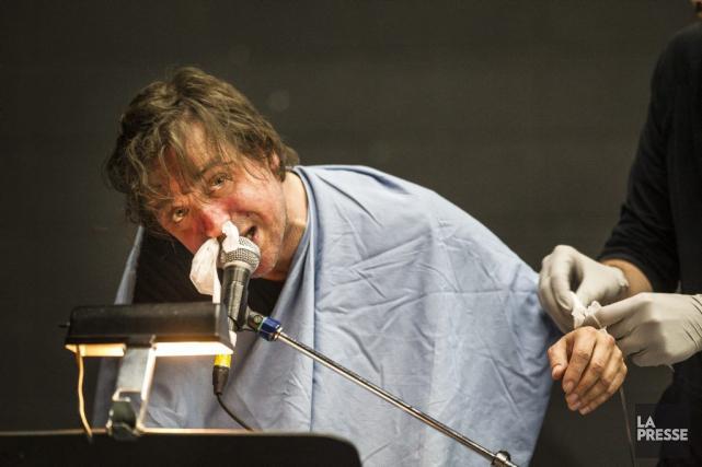 Un médecin suivait de près Christian Lapointe qui... (Photo: Olivier Pontbriand, La Presse)