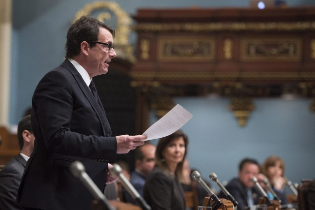 Le chef du PQ, Pierre Karl Péladeau... (Photo Jacques Boissinot, La Presse Canadienne)