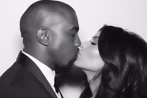 Kanye West et Kim Kardashian partagent leur bonheur... (Image: tirée du compte Instagram de Kim Kardashian)