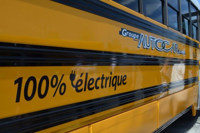 Un autobus scolaire 100 % électrique sillonnera les rues d'Alma l'automne... (Laura Lévesque)