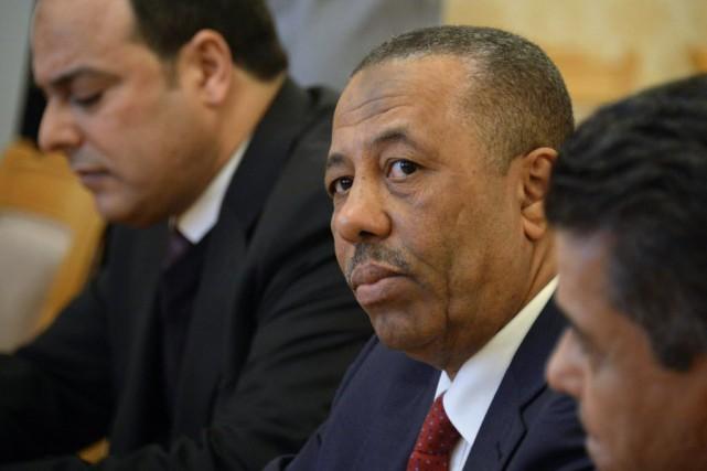Le premier ministre libyen Abdallah al-Theni... (PHOTO ALEXANDER NEMENOV, ARCHIVES AFP)