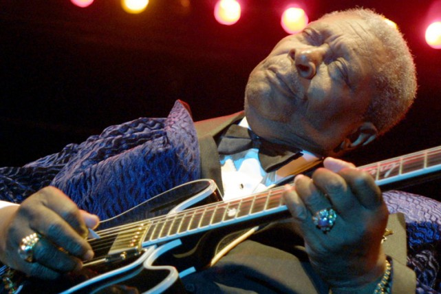 B.B. King en 2001 à Nice.... (Archives AFP)
