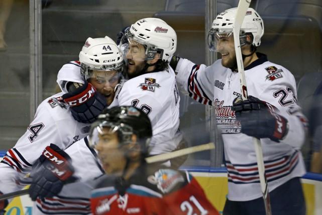 Au cours des quatre prochains jours, les joueurs des Generals d'Oshawa... (Photo: Reuters)