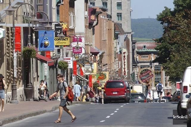 Des commerçants de la rue Saint-Jean ont vertement... (Photothèque Le Soleil, Patrice Laroche)
