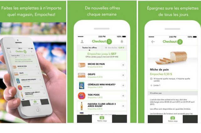 L'application Checkout 51 maintenant en français... (Photo tirée de iTunes)