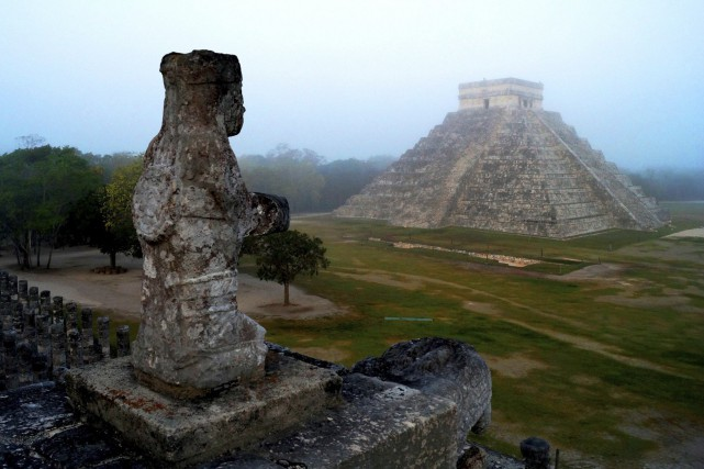 La pyramide du site archéologique de Chichén Itzá,... (PHOTO ARCHIVES REUTERS)