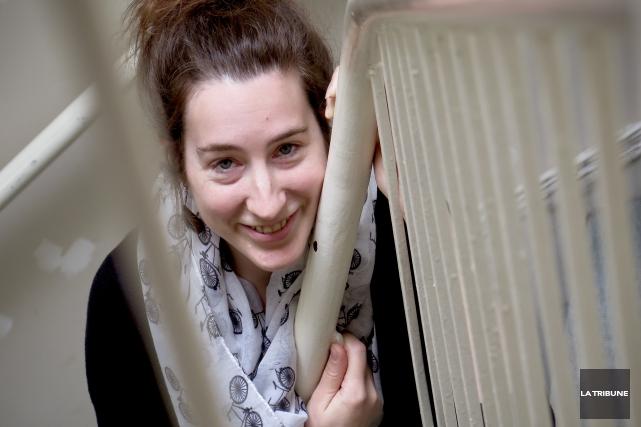La directrice artistique du Festival du texte court,... (IMACOM, RENÉ MARQUIS)
