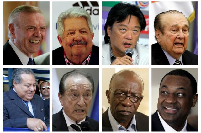 Huit des neuf élusde la FIFA qui ont... (Photos Reuters)