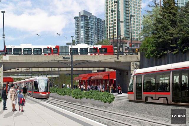 Le projet de train léger d'Ottawa.... (Archives, LeDroit)