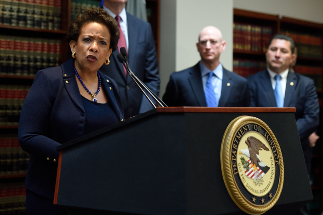 La ministre américaine de la Justice, Loretta Lynch,... (Photo Don Emmert, AFP)