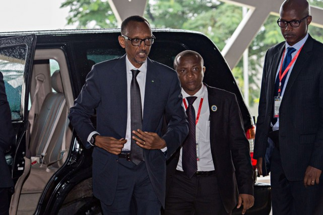 Le président Paul Kagame est l'homme fort du... (PHOTO DANIEL HAYDUK, ARCHIVES AFP)