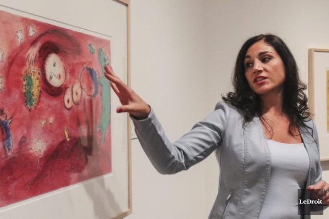 Sonia Del Re, commissaire de l'exposition et conservatrice... (Patrick Woodbury, LeDroit)