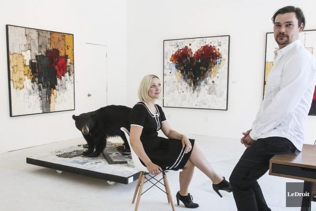 L'artiste Dominik Sokolowski ouvre la galerie Alpha, sur... (Patrick Woodbury, LeDroit)