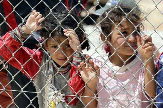 De jeunes réfugiées syriennes dans le camp d'Azraq,... (Archives AFP)