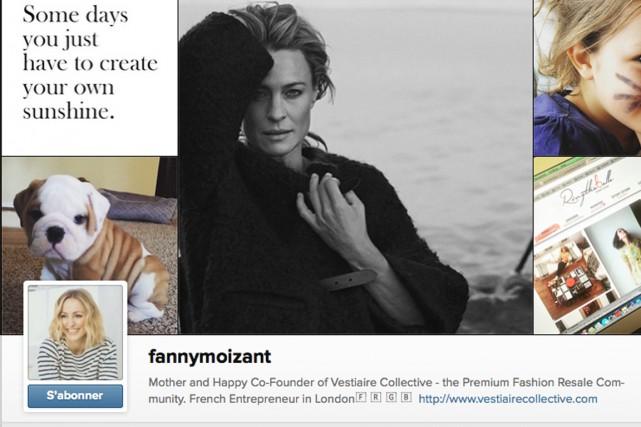 Le compte IG de Fanny Moizant reflète sa... (Saisie d'écran)