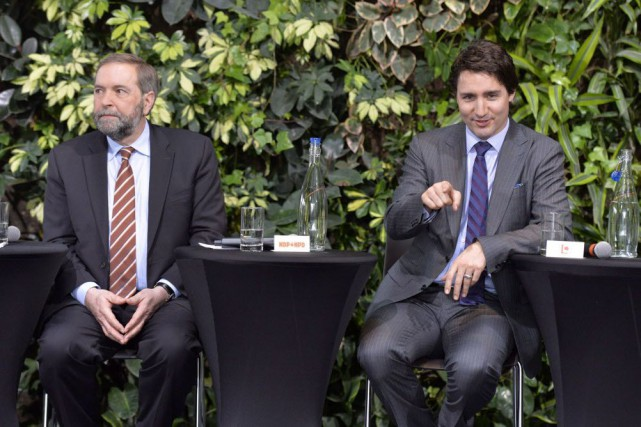 Thomas Mulcair a dit que les conservateurs et... (Photo Adrian Wyld, archives La Presse canadienne)