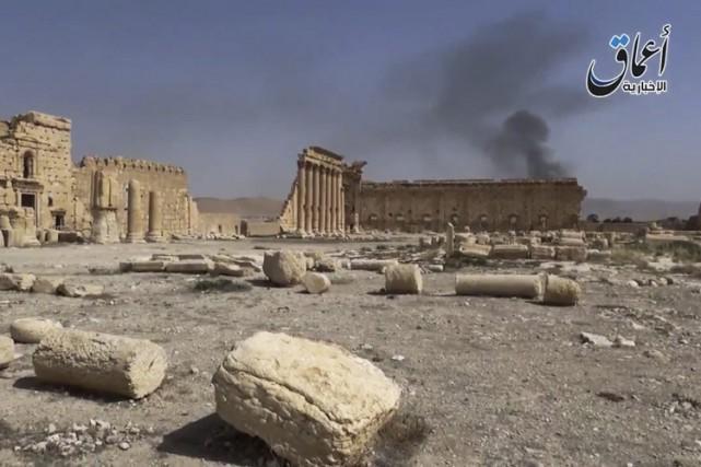 L'EI s'est emparé de Palmyre le 21 mai,... (Image tirée d'une vidéo, AP)