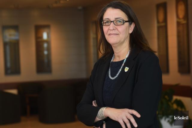 L'ex-rectrice de l'UQTR, Nadia Ghazzali... (Photothèque Le Soleil)