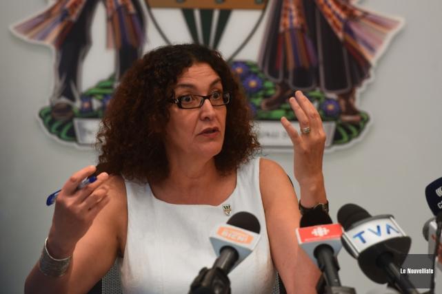 L'ex-rectrice Nadia Ghazzali pourrait devenir professeure au département... (Photo: François Gervais, Le Nouvelliste)