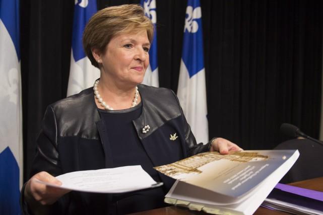La vérificatrice générale du Québec, Guylaine Leclerc, a... (Photo: La Presse Canadienne)