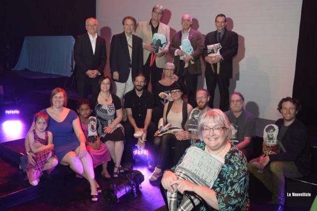 Ci-dessus, les lauréats des Grands prix culturels de... (Photo: Sylvain Mayer, Le Nouvelliste)