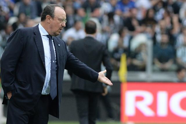 L'entraîneur de Naples, Rafael Benitez.... (Photo Massimo Pinca, AP)