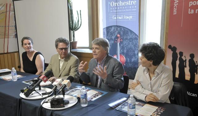 L'Orchestre symphonique du Saguenay-Lac-Saint-Jean dévoilait la programmation de... (Photo Rocket Lavoie)